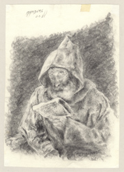 Rembrandt Reading Monk