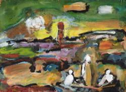 Christ sur le lac nach Georges Rouault
