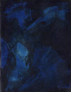 Farbstudie Blau Schwarz